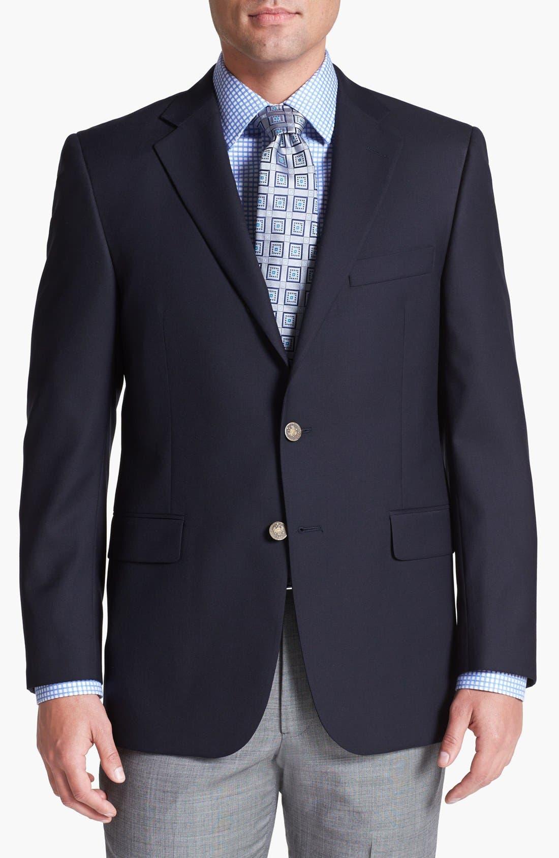 Navy Wool Blazer,                         Main,                         color, Navy