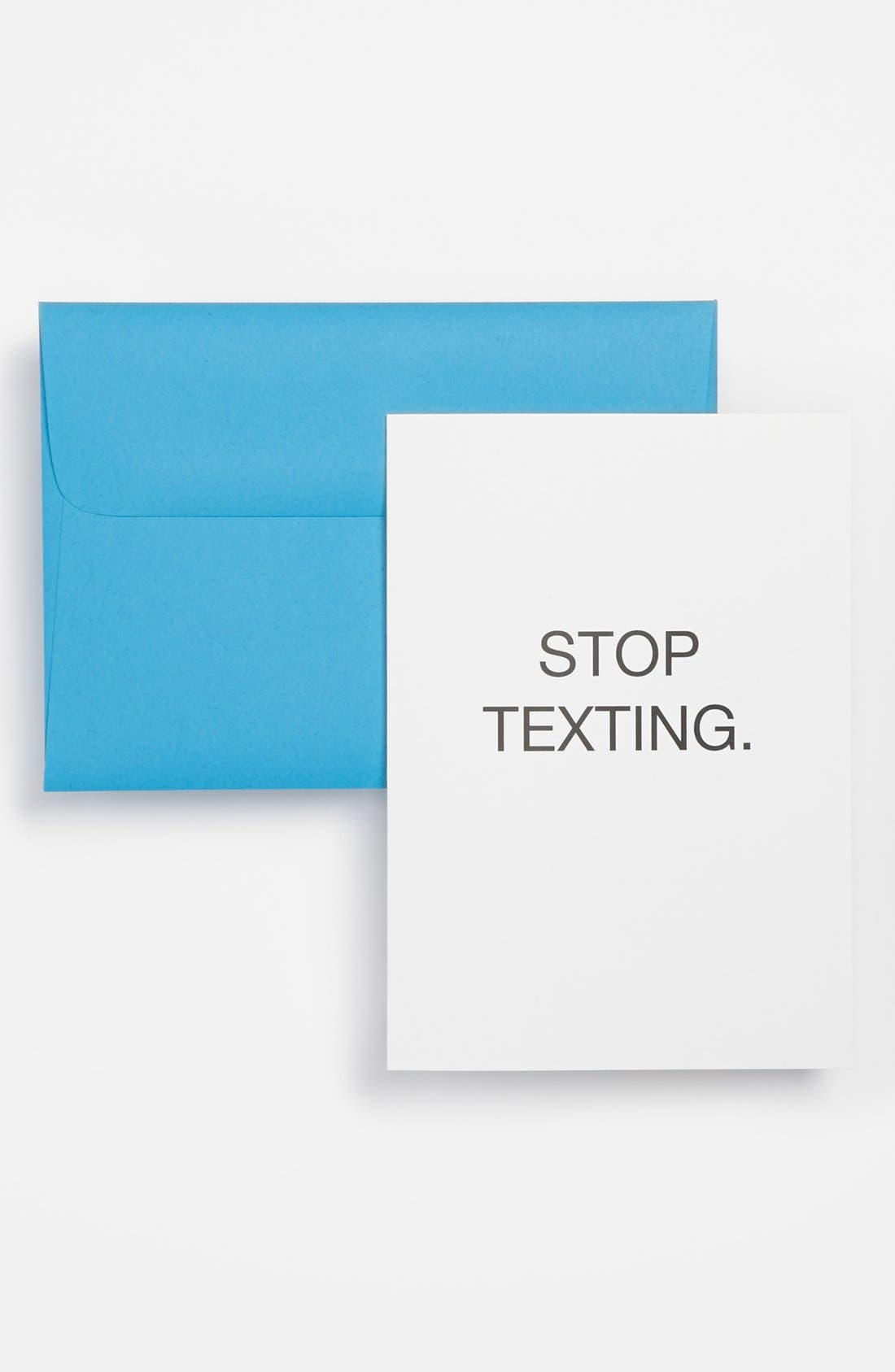 'Stop Texting' Cards,                         Main,                         color, White