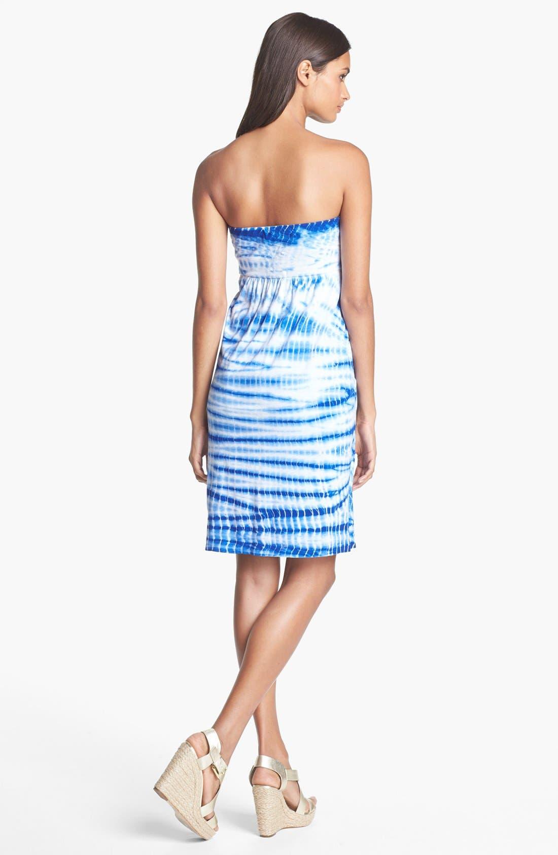 Alternate Image 2  - Velvet by Graham & Spencer Tie Dye Tube Dress