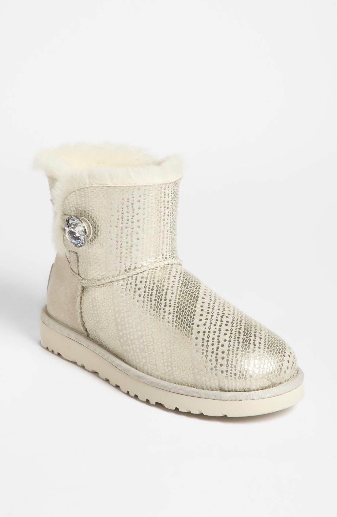 Alternate Image 1 Selected - UGG® Australia 'Mini Bailey Swarovski Crystal Button Bling' Boot (Women)