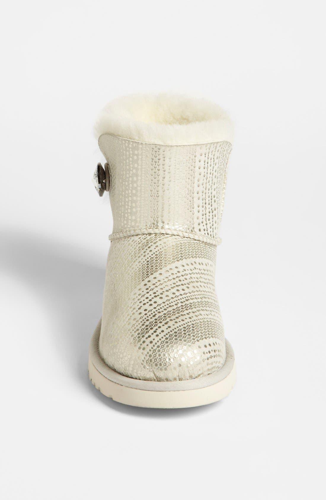 Alternate Image 3  - UGG® Australia 'Mini Bailey Swarovski Crystal Button Bling' Boot (Women)