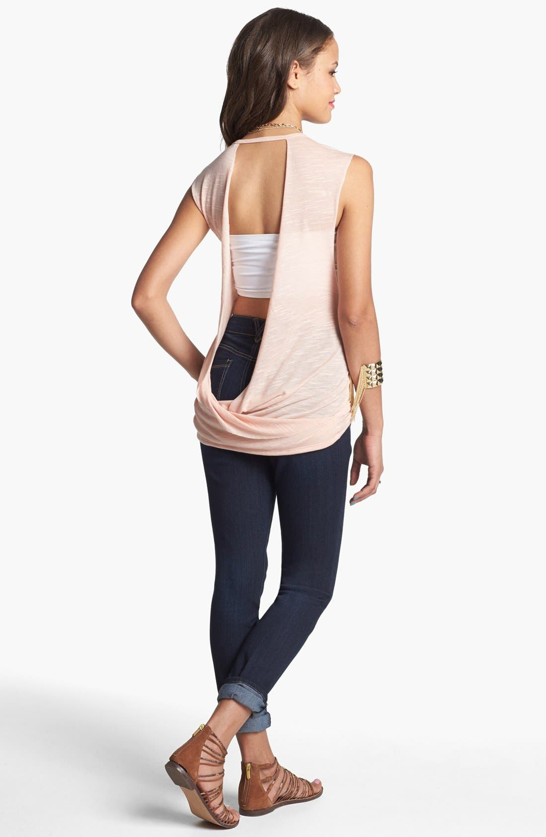 Alternate Image 1 Selected - Painted Threads Tank & Jolt Skinny Jeans