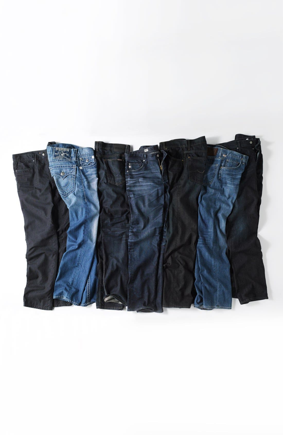 Alternate Image 5  - 7 For All Mankind® 'Austyn' Relaxed Fit Jeans (Amber Night)