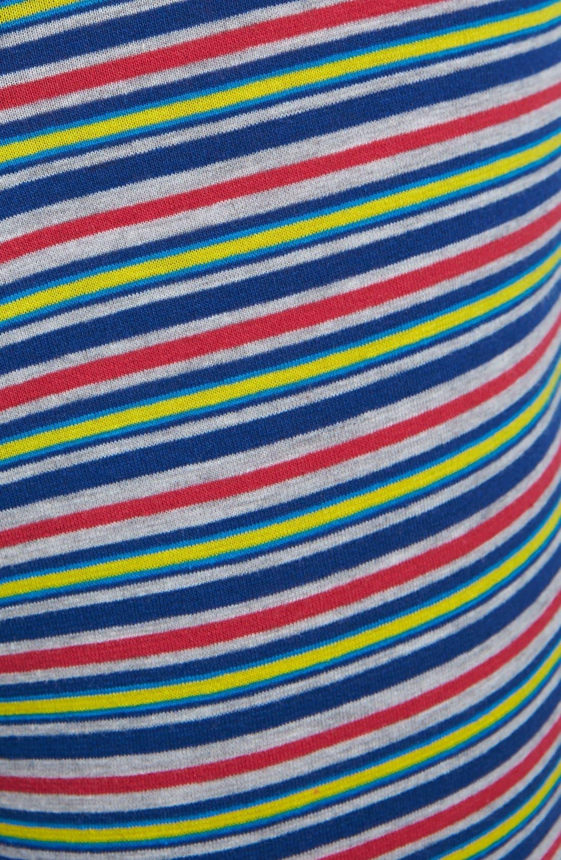 Alternate Image 5  - Basic Underwear 'Bottoms Out' Stripe Boxer Briefs (3-Pack)