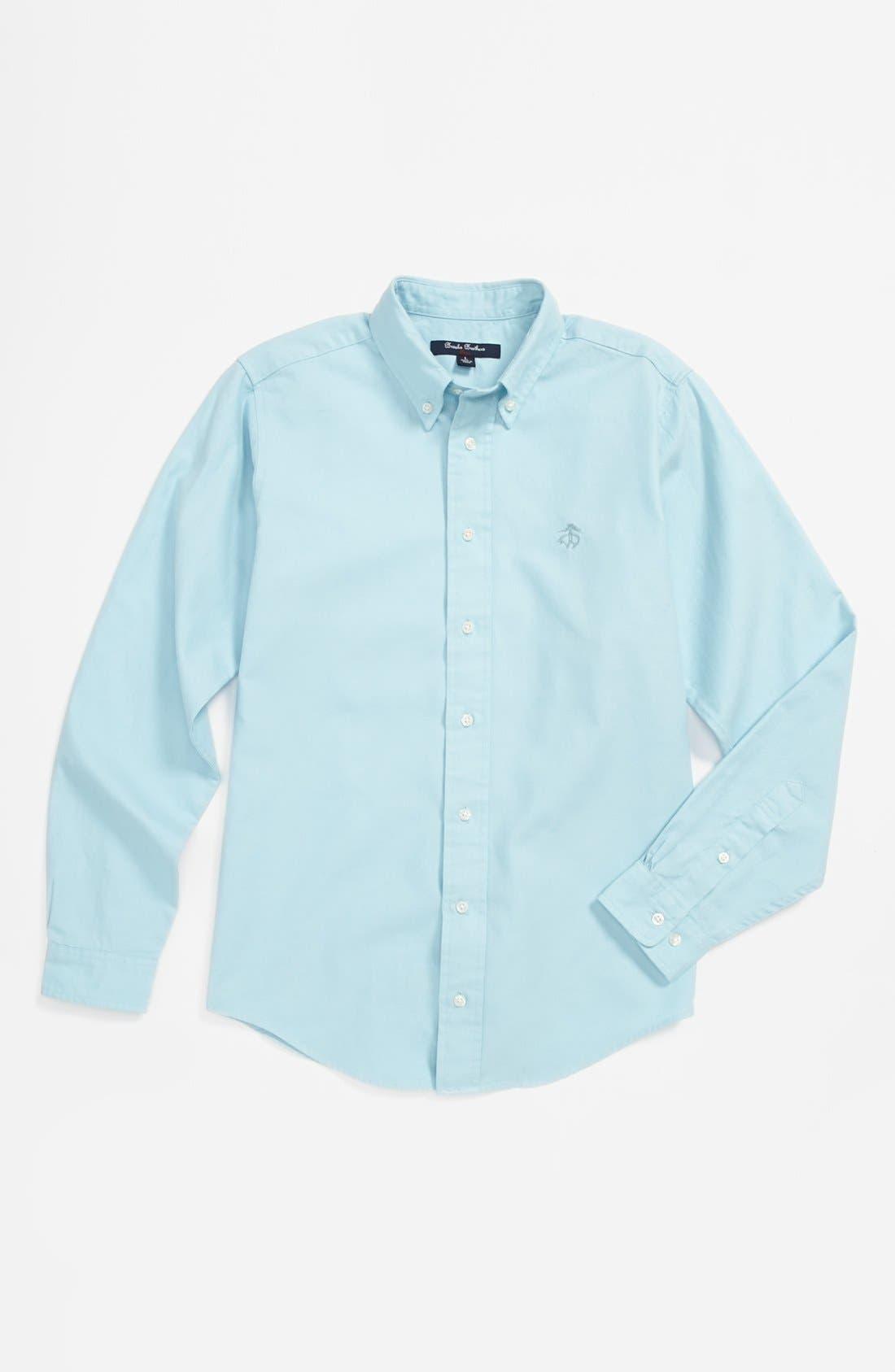 Main Image - Brooks Brothers Oxford Woven Shirt (Big Boys)