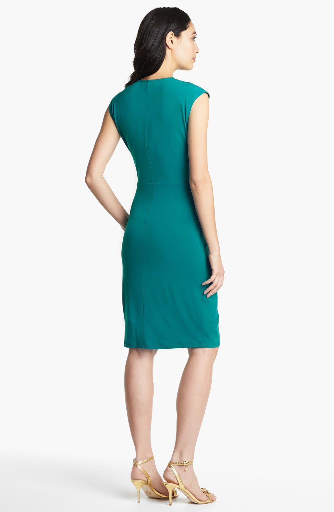 Alternate Image 2  - MICHAEL Michael Kors Cap Sleeve Faux Wrap Dress