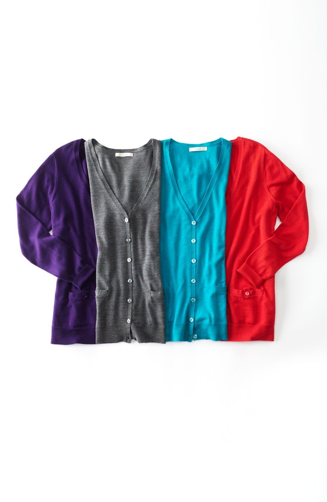 Alternate Image 3  - Sejour 'Fine Dine' Merino Wool Cardigan (Plus Size)