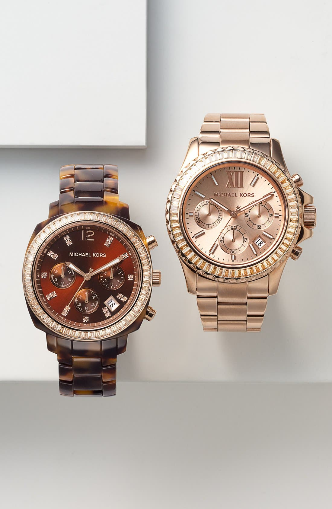 Alternate Image 5  - Michael Kors 'Everest' Baguette Crystal Bezel Bracelet Watch, 41mm