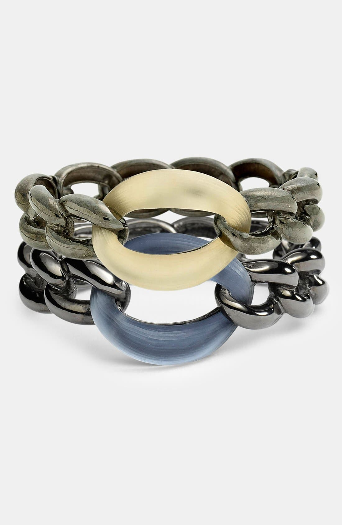 Alternate Image 2  - Alexis Bittar 'Lucite® - Neo Bohemian' Link Hinged Bangle Bracelet (Nordstrom Exclusive)