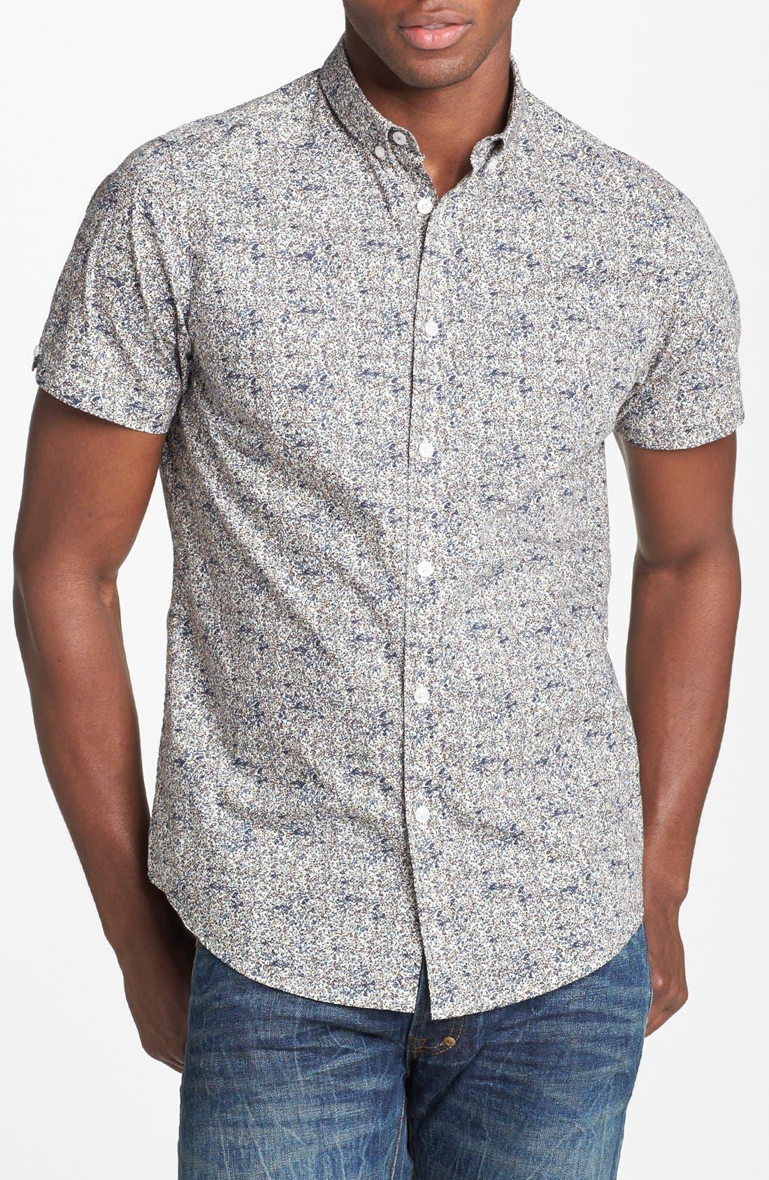Alternate Image 1 Selected - Ben Sherman Floral Print Short Sleeve Woven Shirt