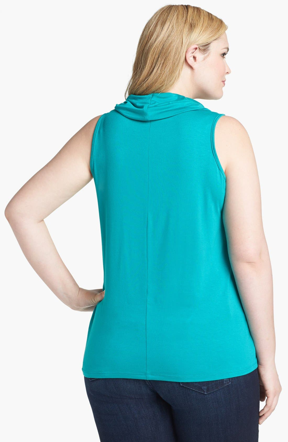 Alternate Image 2  - Karen Kane Sleeveless Cowl Neck Top (Plus Size)