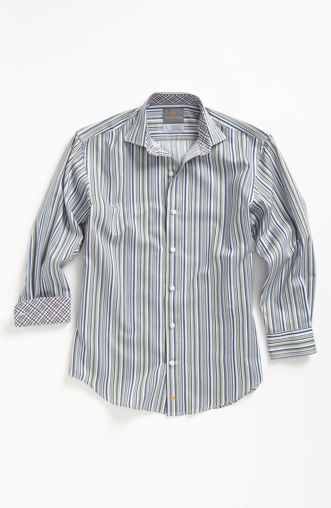 Alternate Image 1 Selected - Thomas Dean Stripe Dress Shirt (Little Boys)