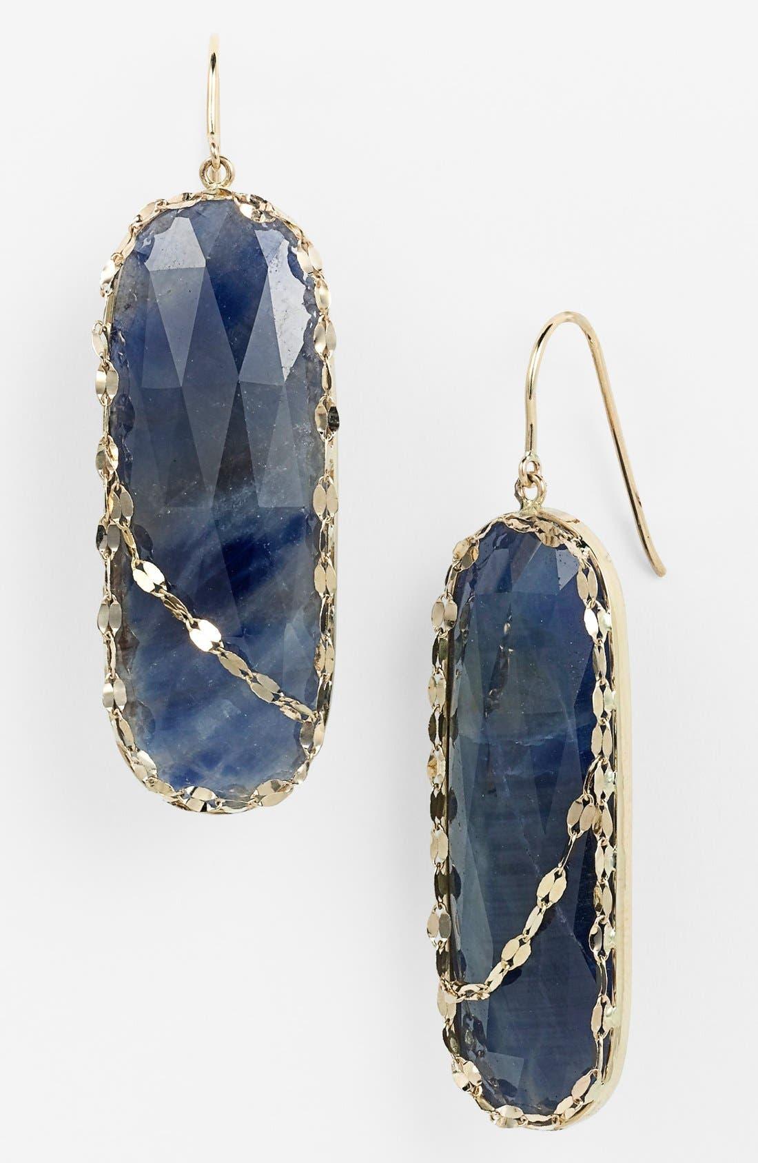 Alternate Image 1 Selected - Lana Jewelry 'Stone Gold' Sapphire Drop Earrings