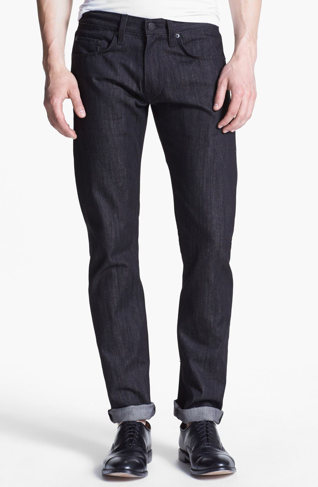 Main Image - J Brand 'Tyler' Slim Fit Jeans (Black Raw)