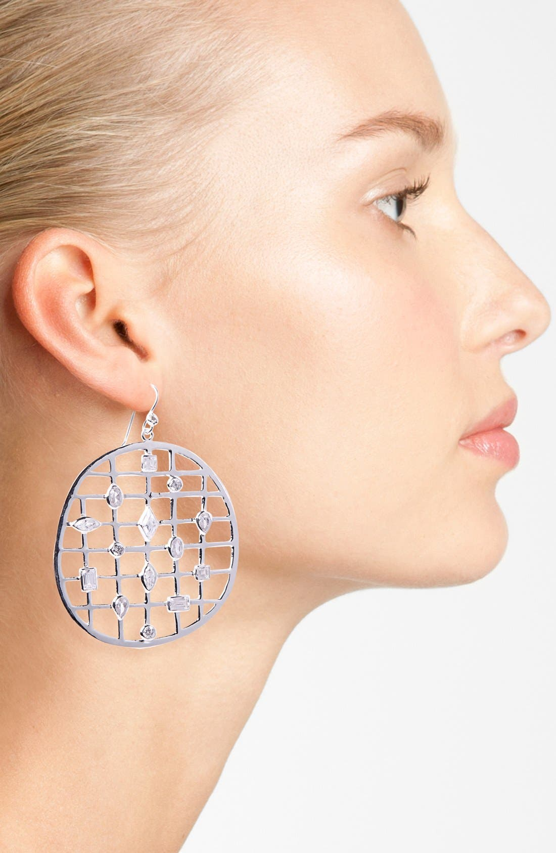 Alternate Image 2  - Mellinda Maria 'Cage' Open Drop Earrings (Online Only)