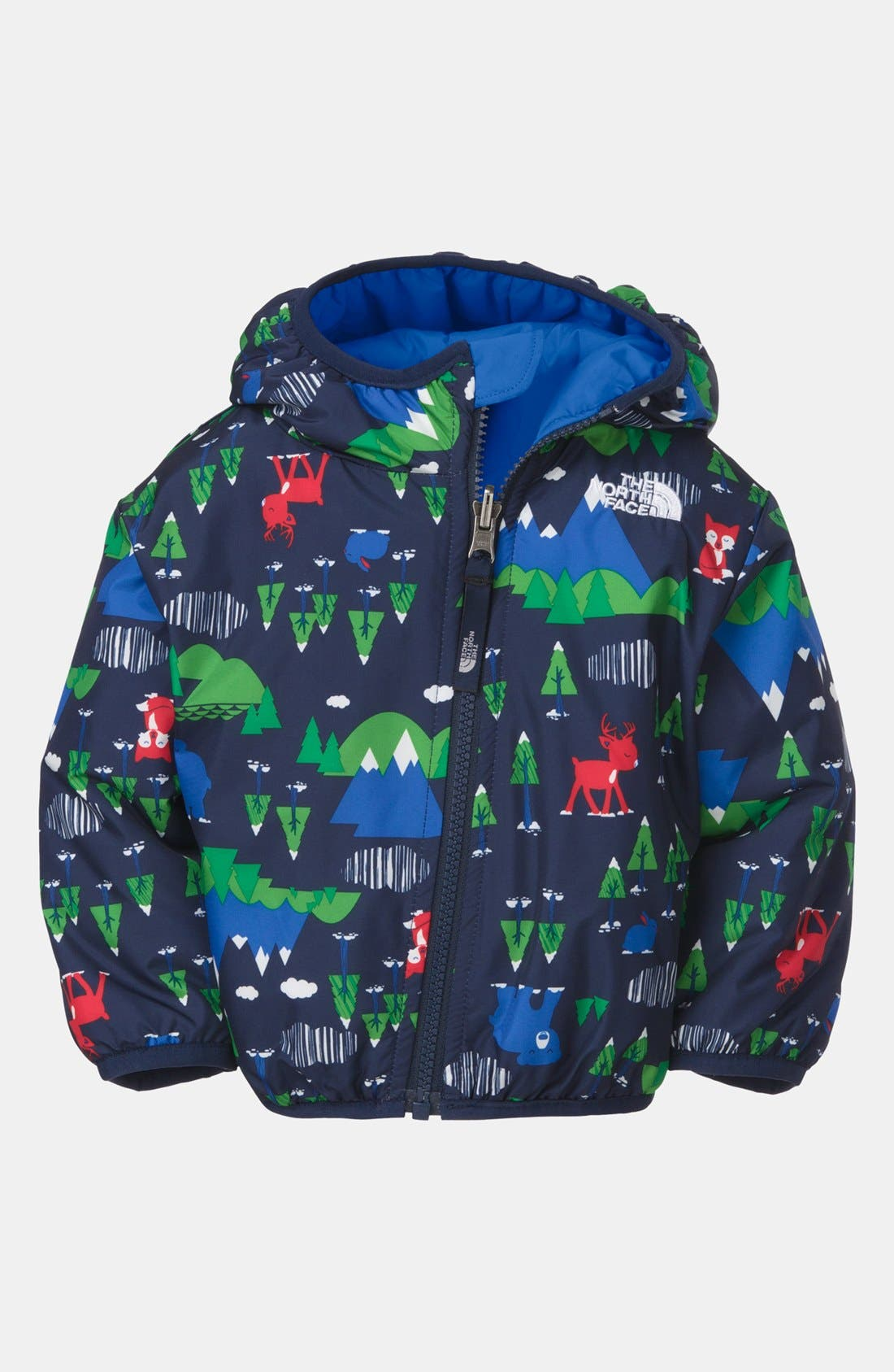 Alternate Image 2  - The North Face 'Perrito' Chevron Quilted Reversible Jacket (Baby Boys)