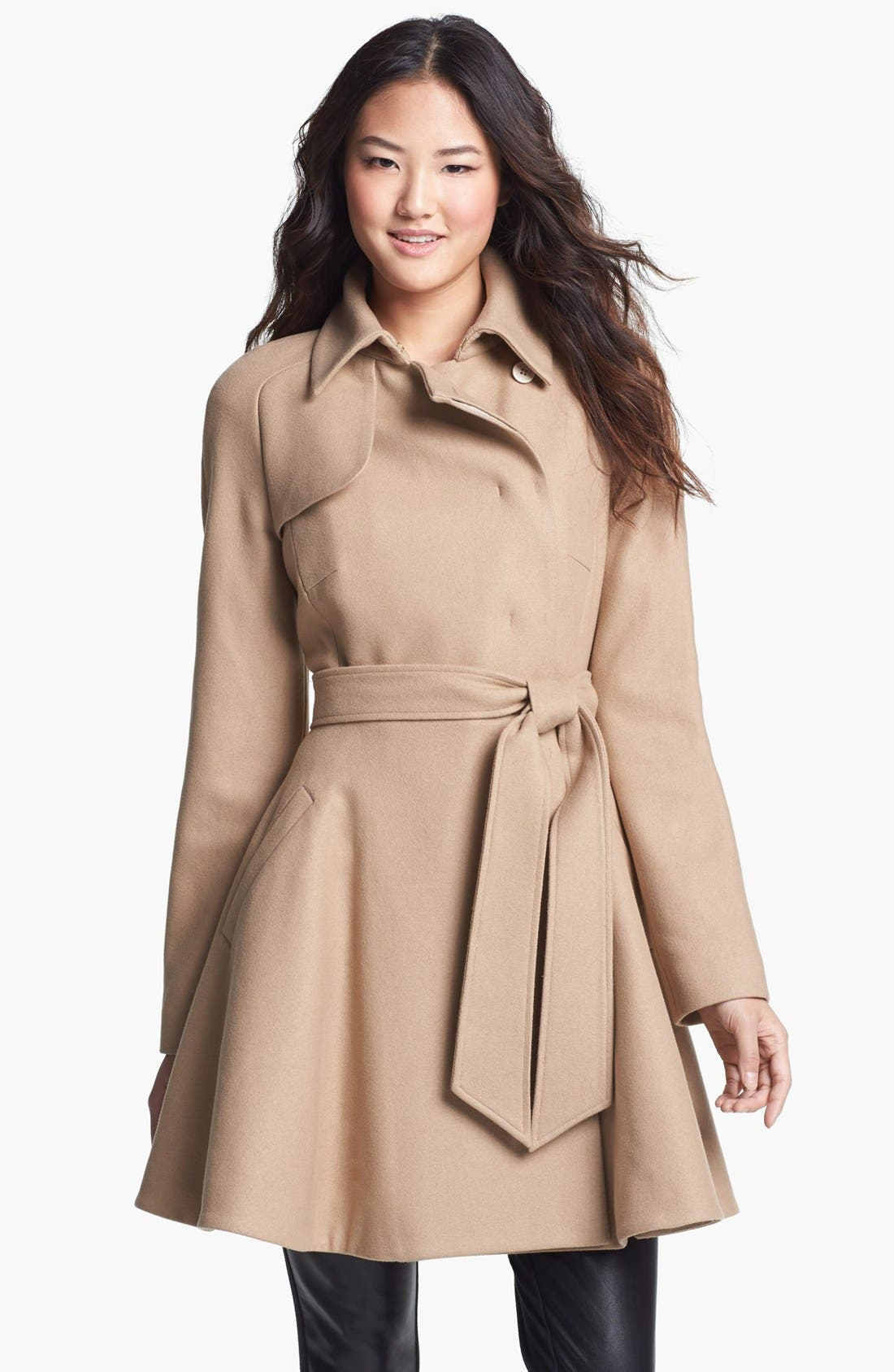 Alternate Image 1 Selected - Ted Baker London Wool Blend Wrap Coat