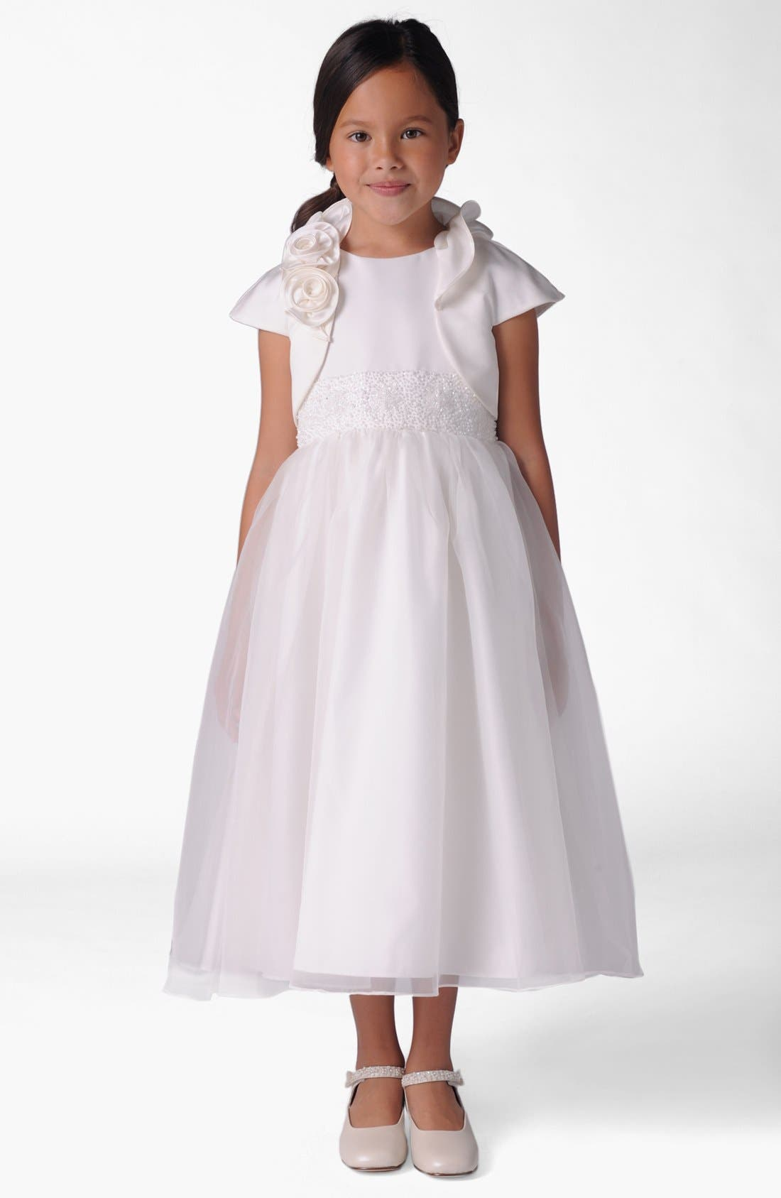 Us Angels Cap Sleeve Satin Bolero (Baby Girls, Toddler Girls, Little Girls & Big Girls)
