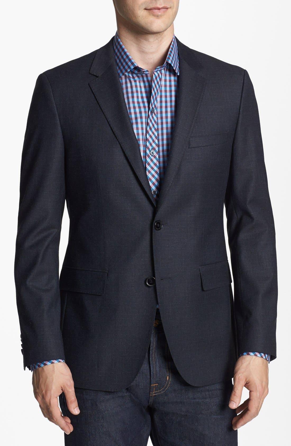 Alternate Image 1 Selected - BOSS HUGO BOSS 'Coast Us' Mélange Check Sportcoat