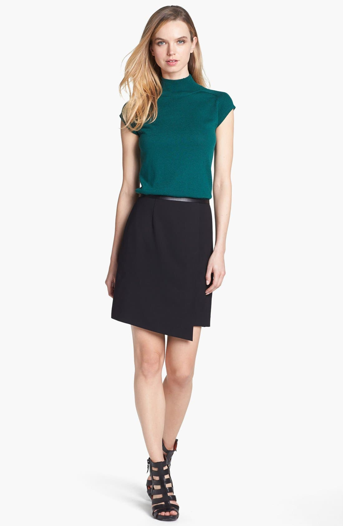 Alternate Image 1 Selected - Vince Camuto Faux Leather Trim Envelope Skirt