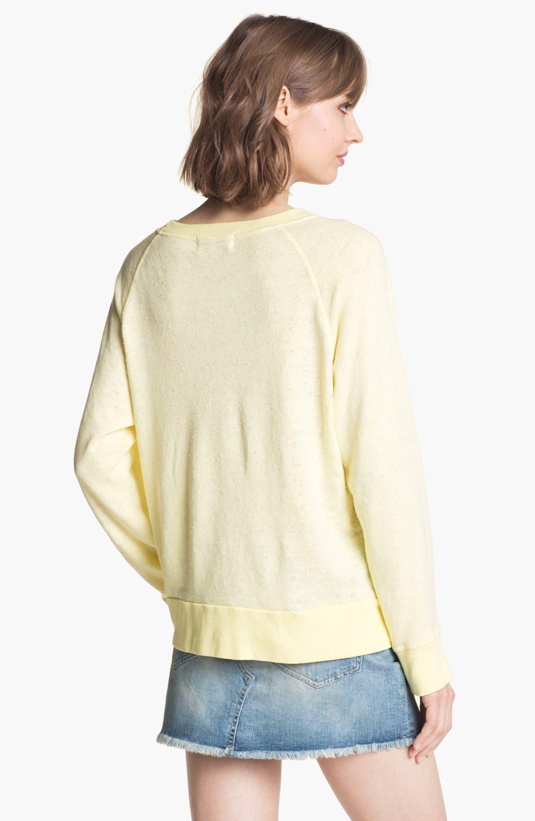 Alternate Image 2  - Wildfox 'Life Is Good' Boatneck Sweatshirt