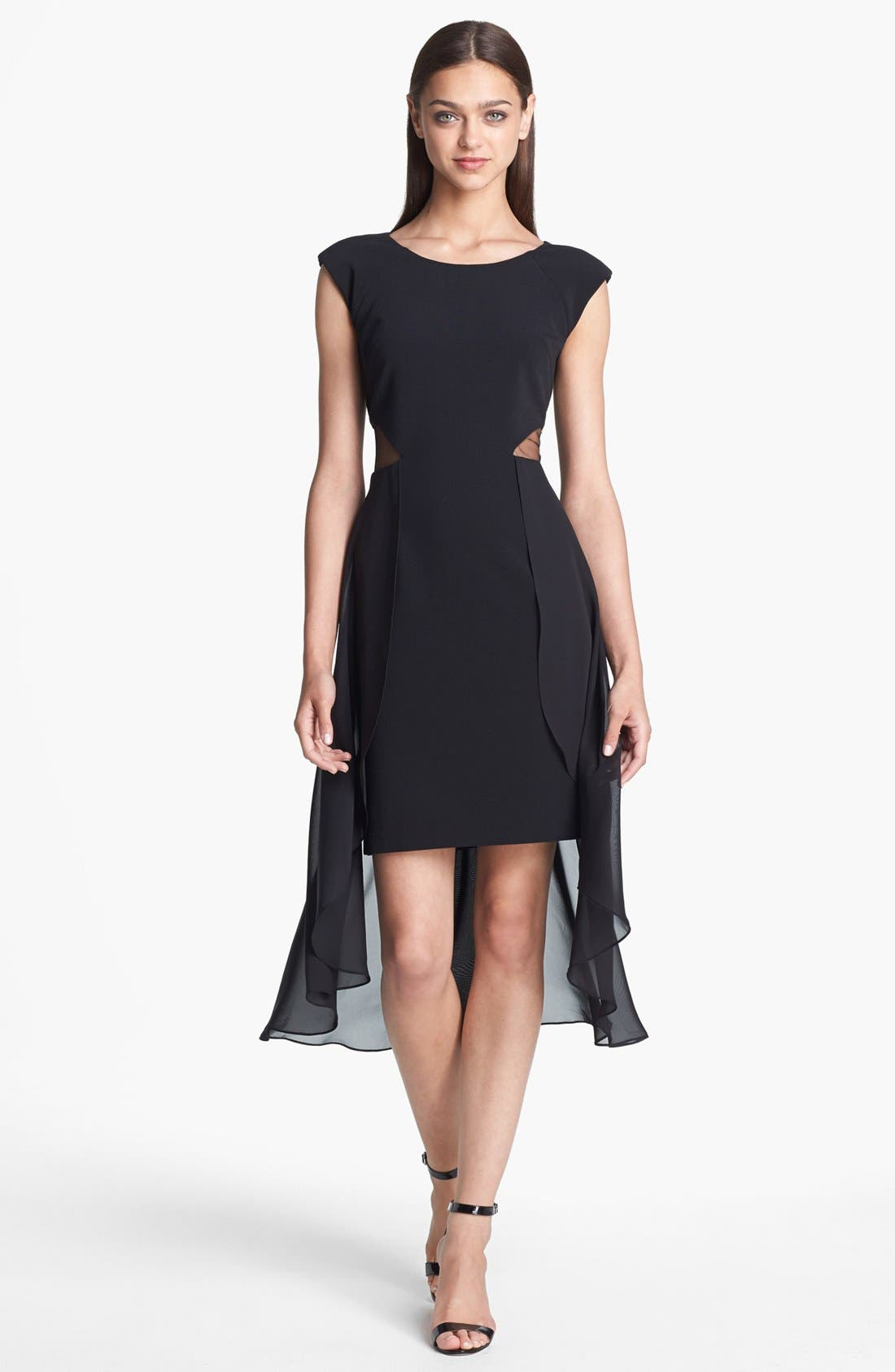 Alternate Image 1 Selected - Hailey by Adrianna Papell Cutout Chiffon Overlay Sheath Dress (Online Only)