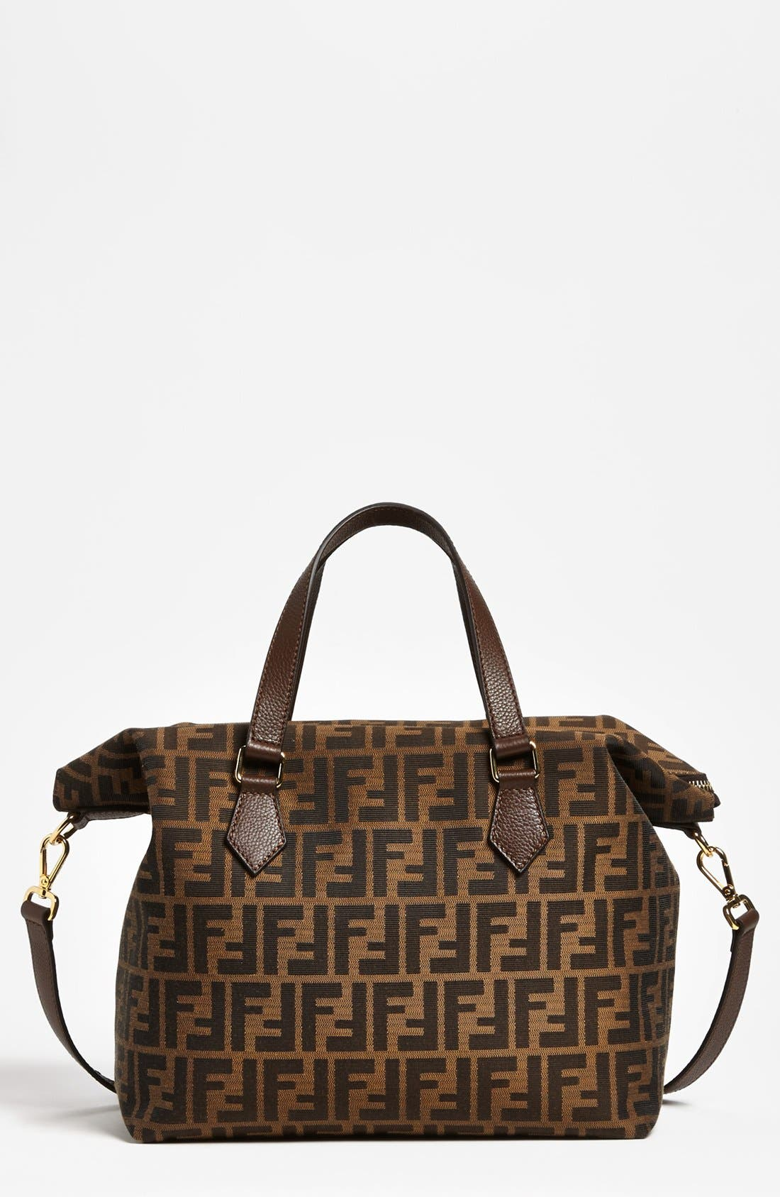 Alternate Image 1 Selected - Fendi 'Large Zucca' Jacquard Satchel