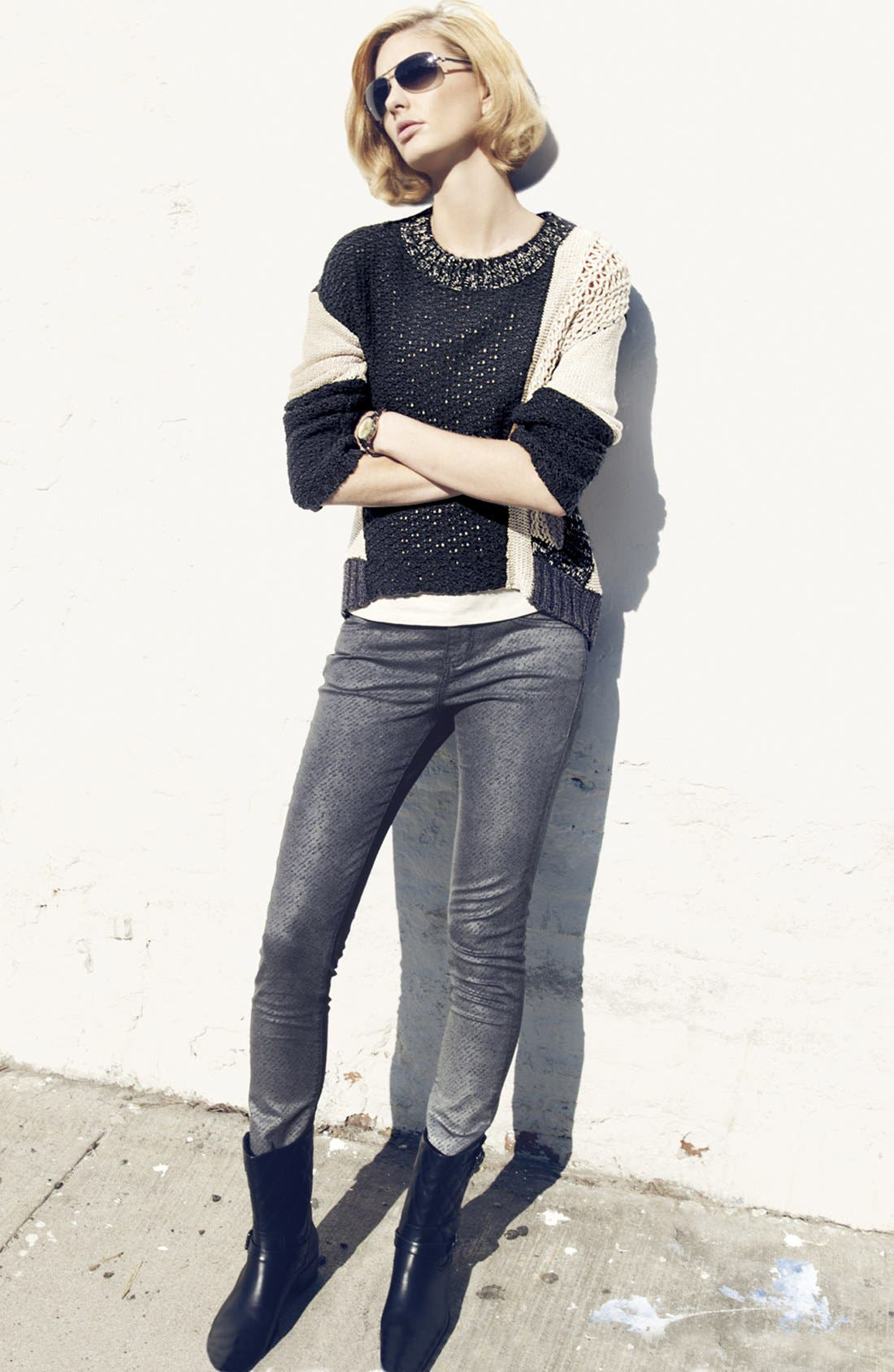 Alternate Image 5  - Curio Mix Knit High/Low Sweater