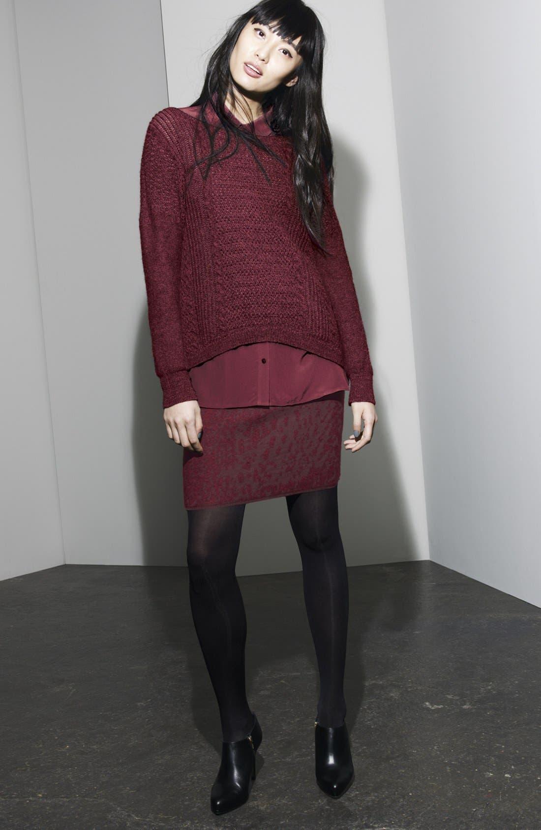Alternate Image 5  - Eileen Fisher Shadow Felted Merino Blend Skirt (Regular & Petite)
