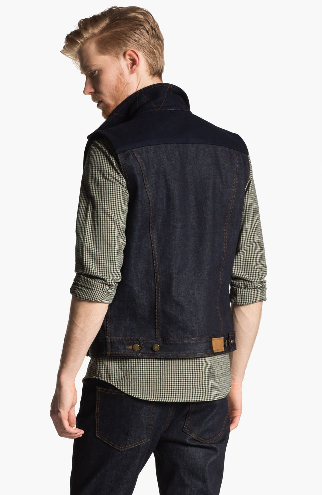 Alternate Image 2  - AMI Alexandre Mattiussi Denim Vest