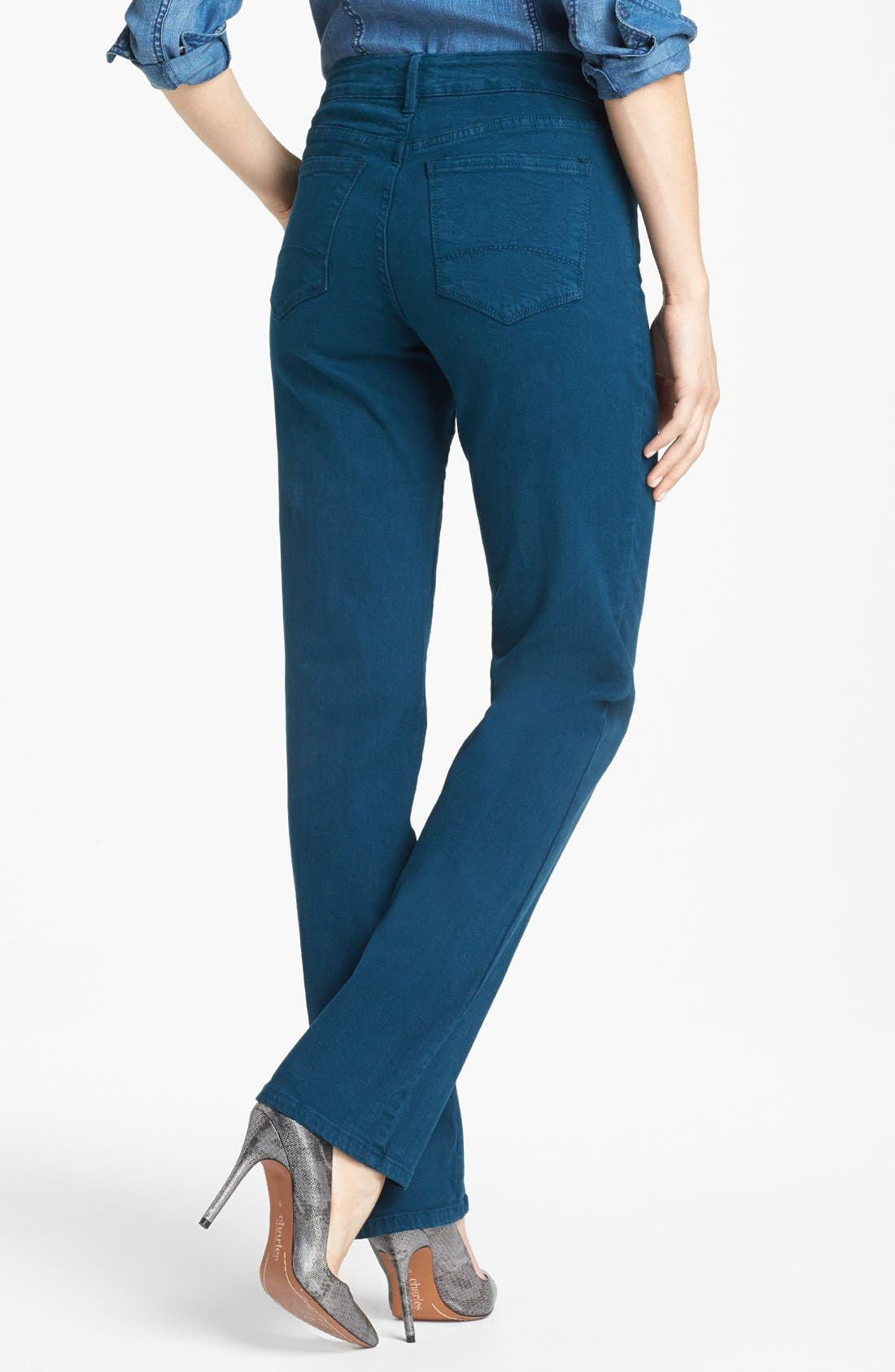 Alternate Image 2  - NYDJ 'Marilyn' Colored Stretch Straight Leg Jeans