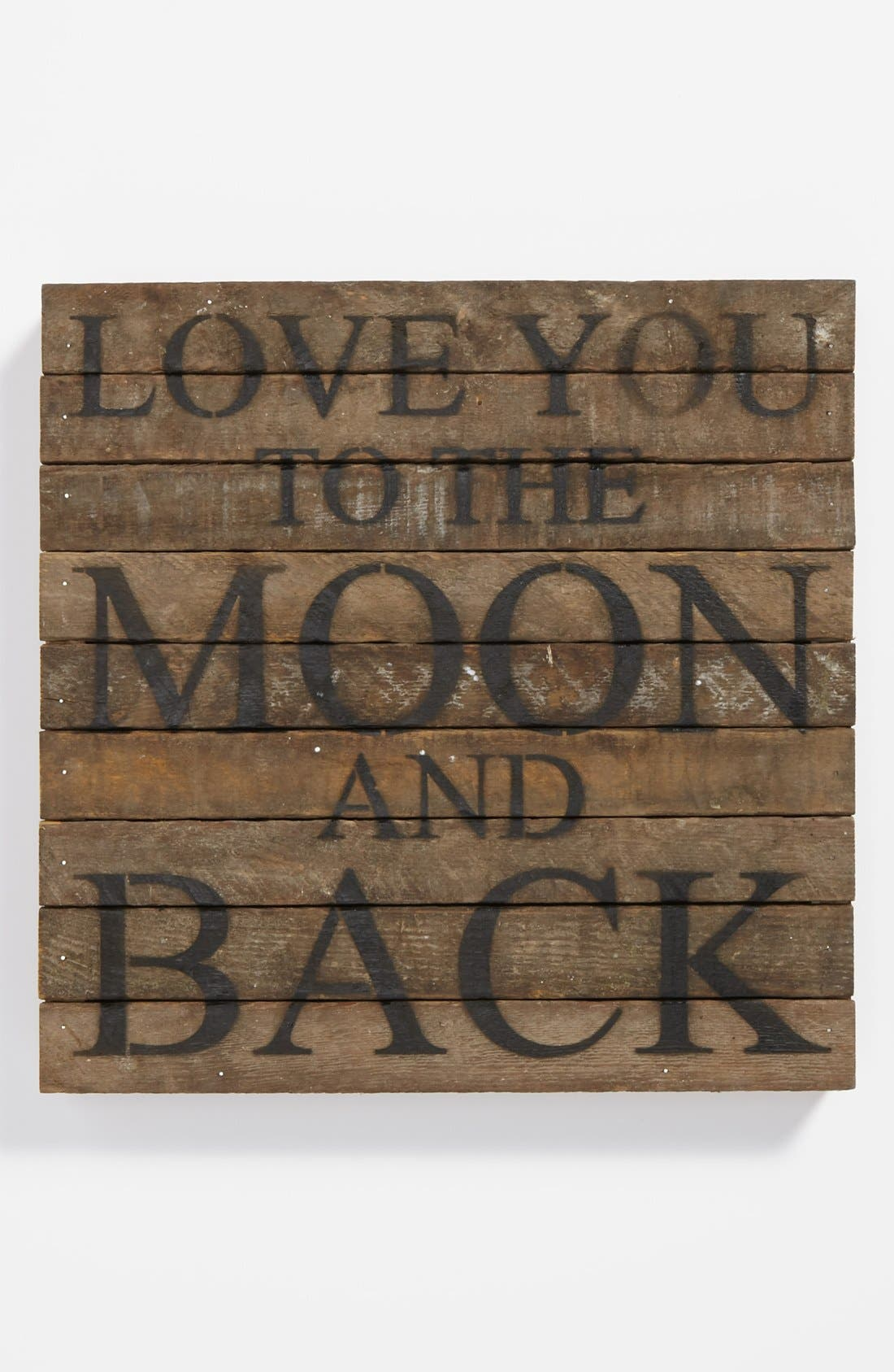 Main Image - Second Nature by Hand 'Love You to the Moon' Repurposed Wood Wall Art