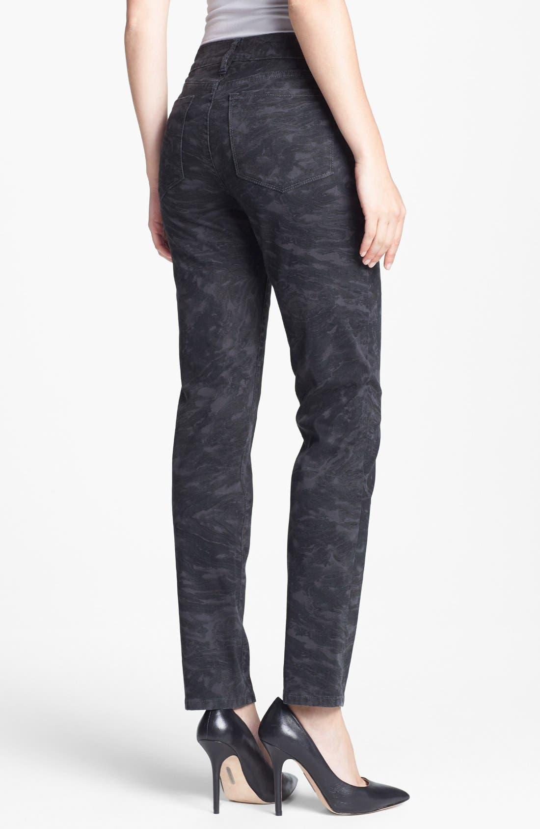 Alternate Image 2  - NYDJ 'Sheri' Print Skinny Stretch Jeans (Regular & Petite)