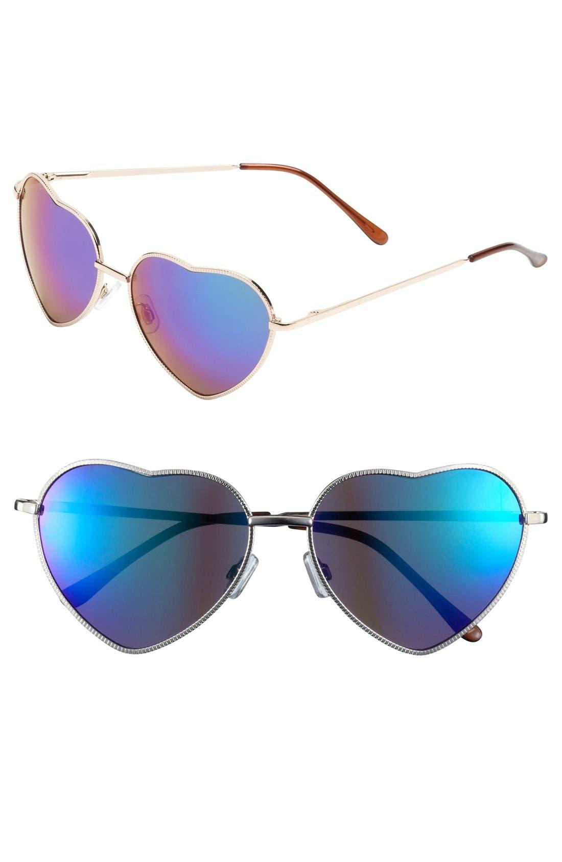 Main Image - BP. 'Flash' Heart Shaped Sunglasses