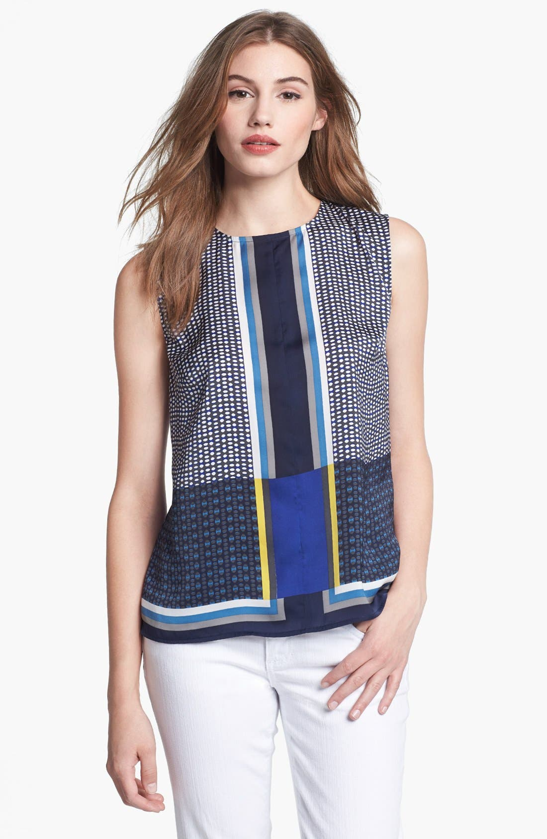 Alternate Image 1 Selected - Halogen® Print Colorblock Top