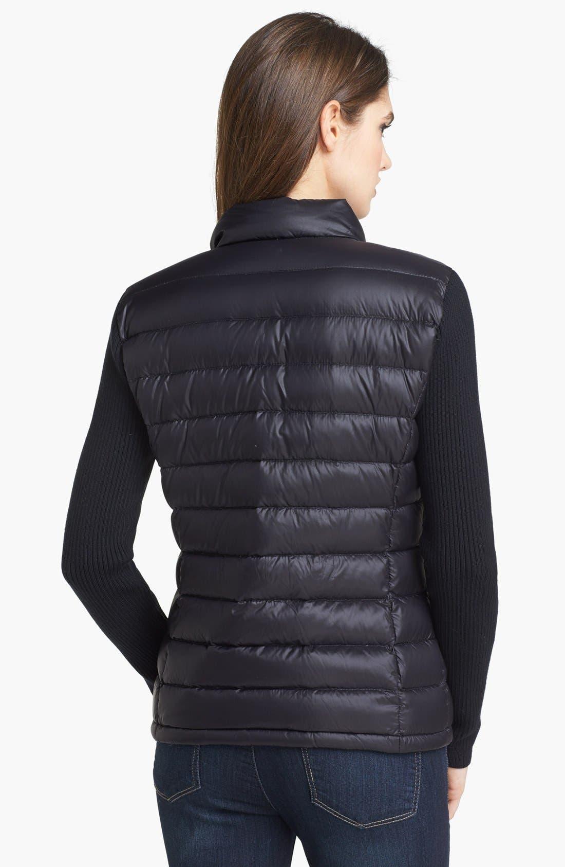 Alternate Image 2  - Calvin Klein Knit Sleeve Down Jacket
