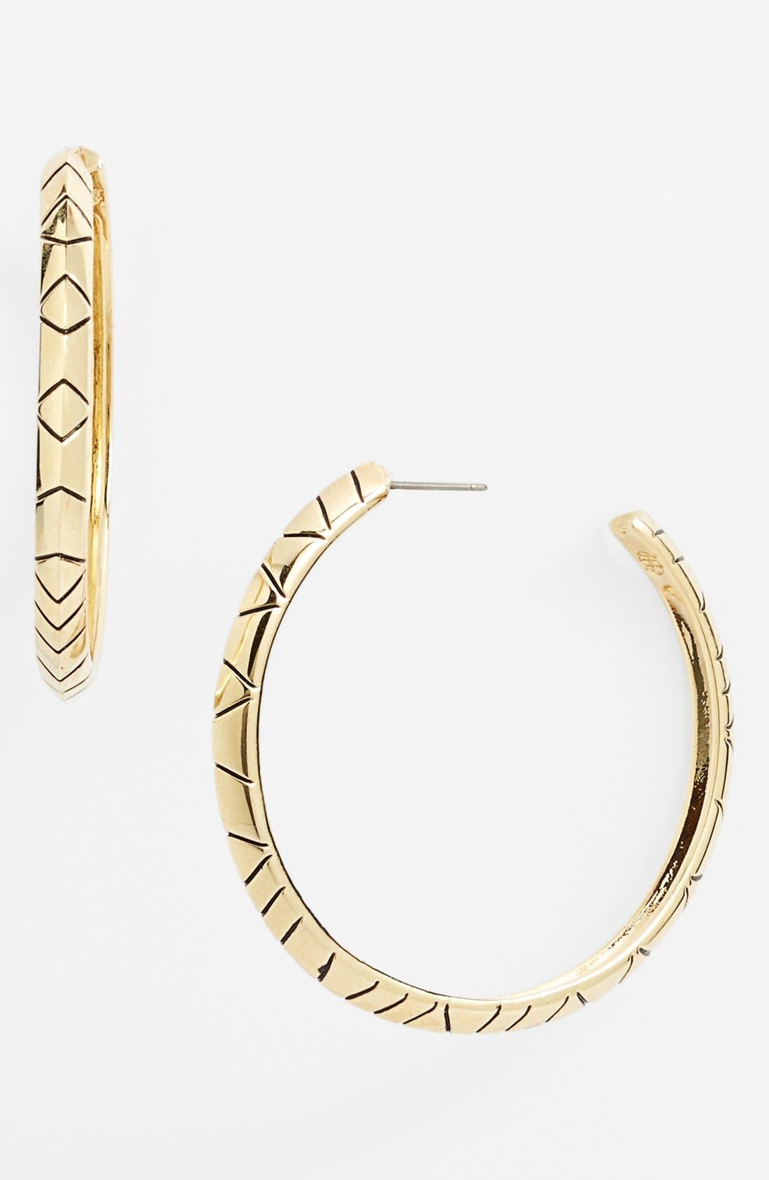 Alternate Image 1 Selected - House of Harlow 1960 Engraved Hoop Earrings