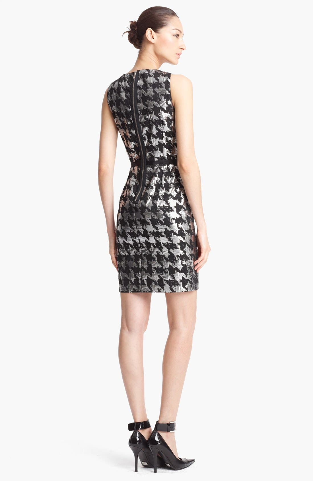 Alternate Image 2  - Michael Kors Metallic Houndstooth Sheath Dress