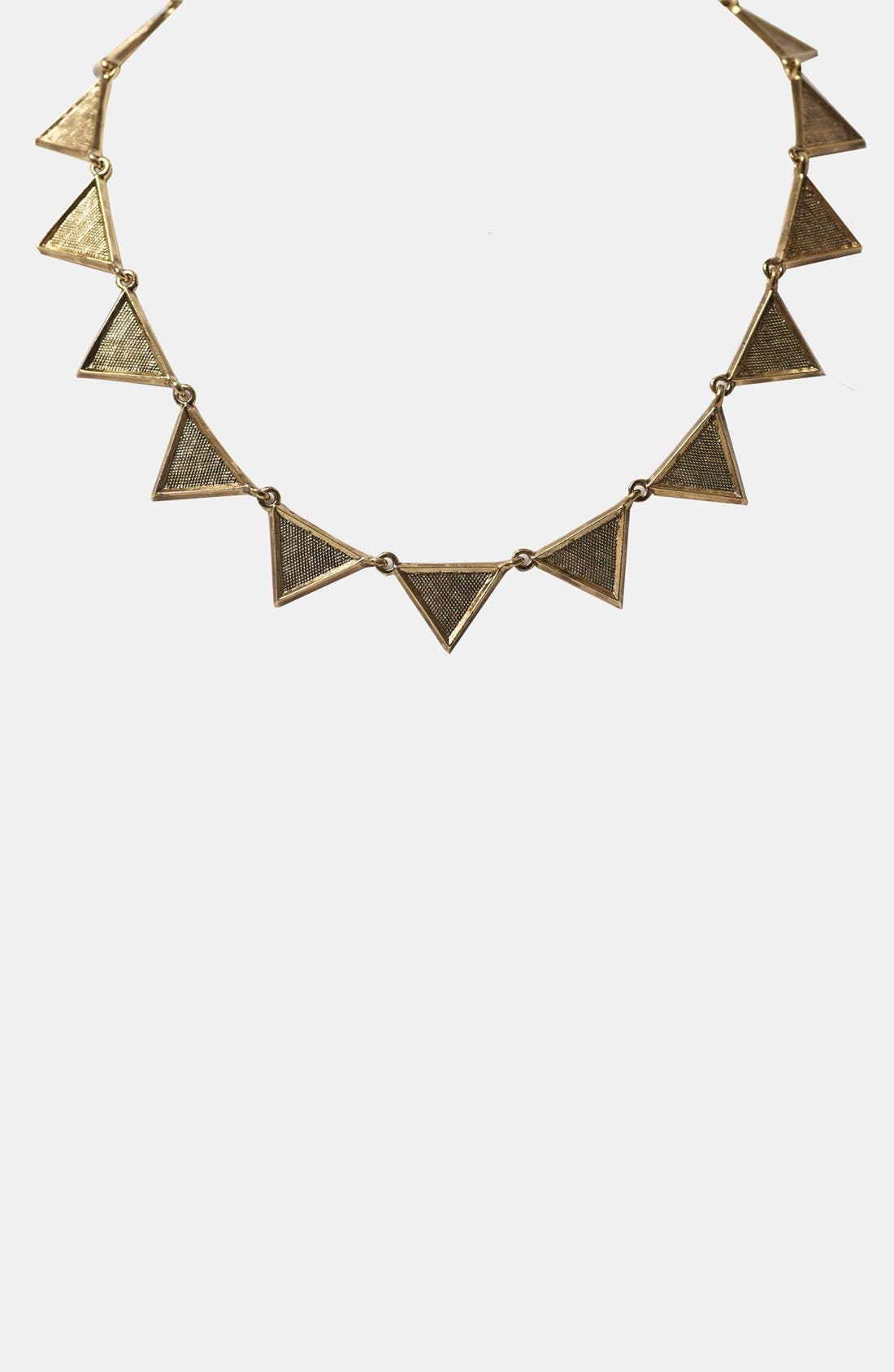 Crosshatched Triangle Collar Necklace,                         Main,                         color, Gold