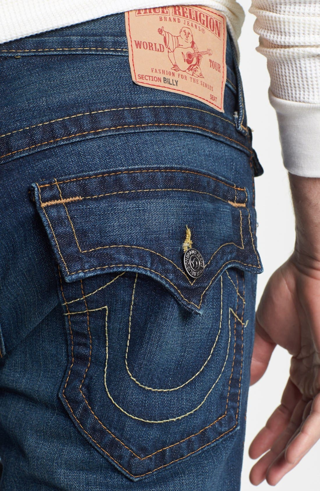 Alternate Image 4  - True Religion Brand Jeans 'Billy' Bootcut Jeans (Monte)