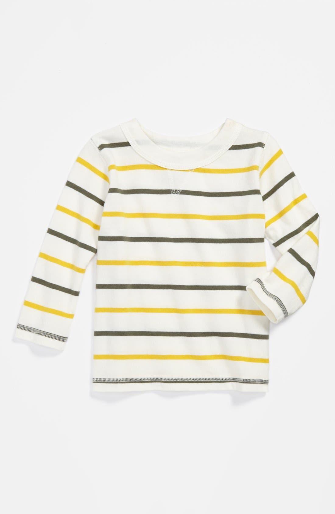 Alternate Image 1 Selected - Peek Stripe Sweatshirt (Baby Boys)