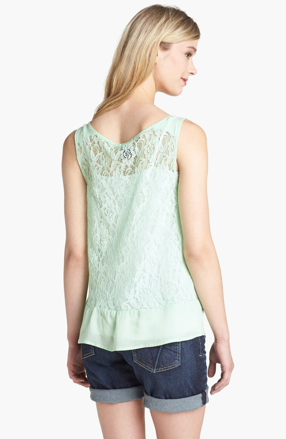 Alternate Image 2  - Bobeau Ruffle Lace Tank