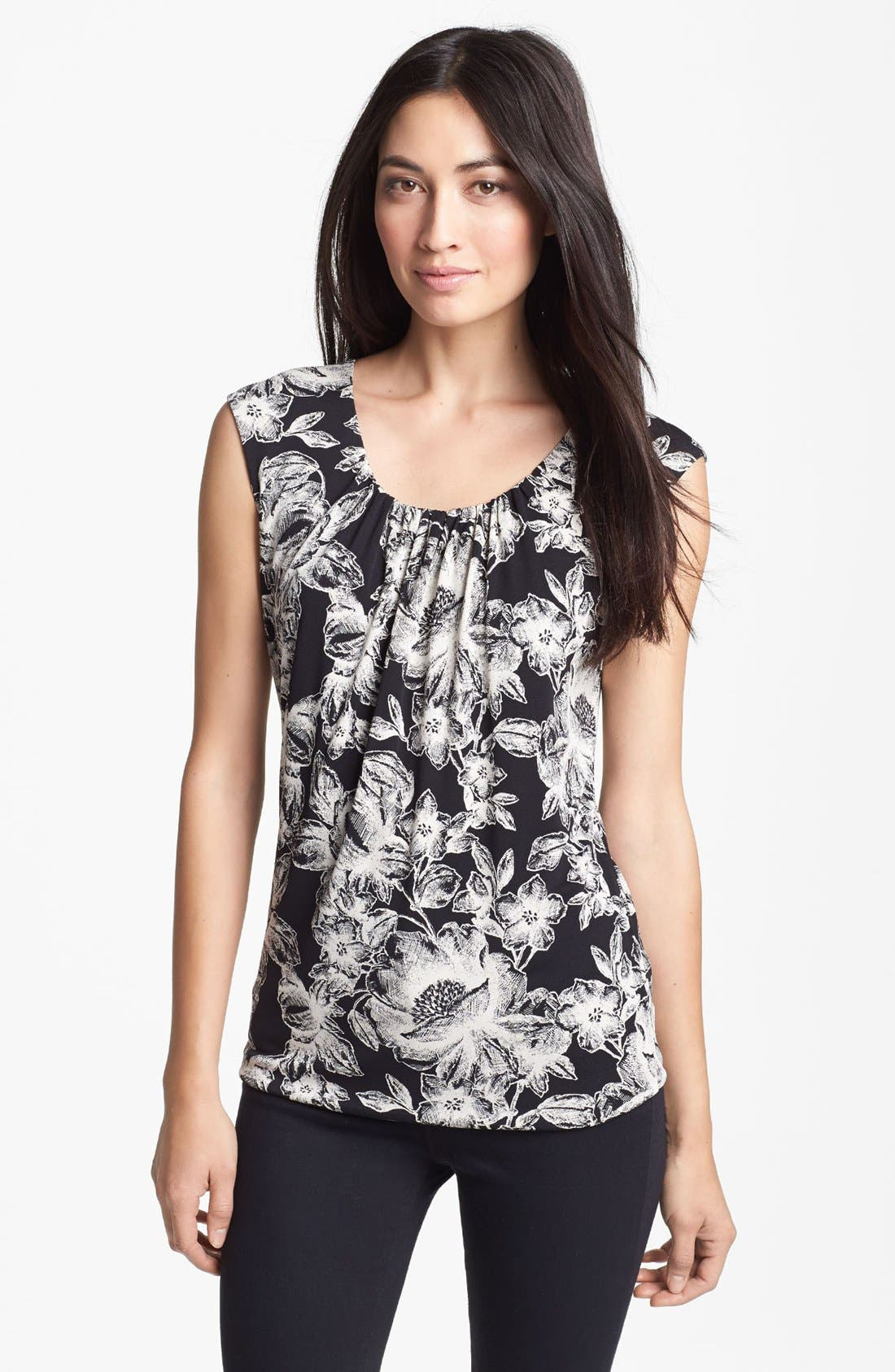 Alternate Image 1 Selected - Classiques Entier® Shirred Jersey Top