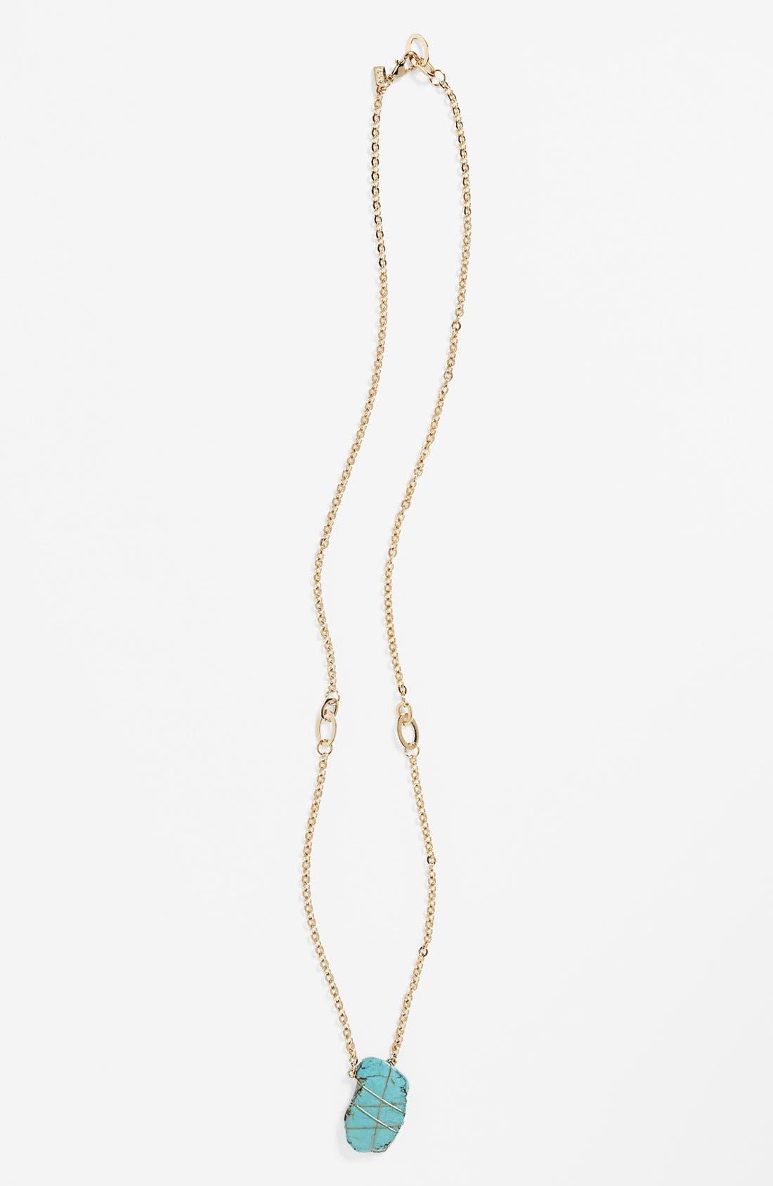 Alternate Image 1 Selected - Rachel Natural Stone Pendant Necklace