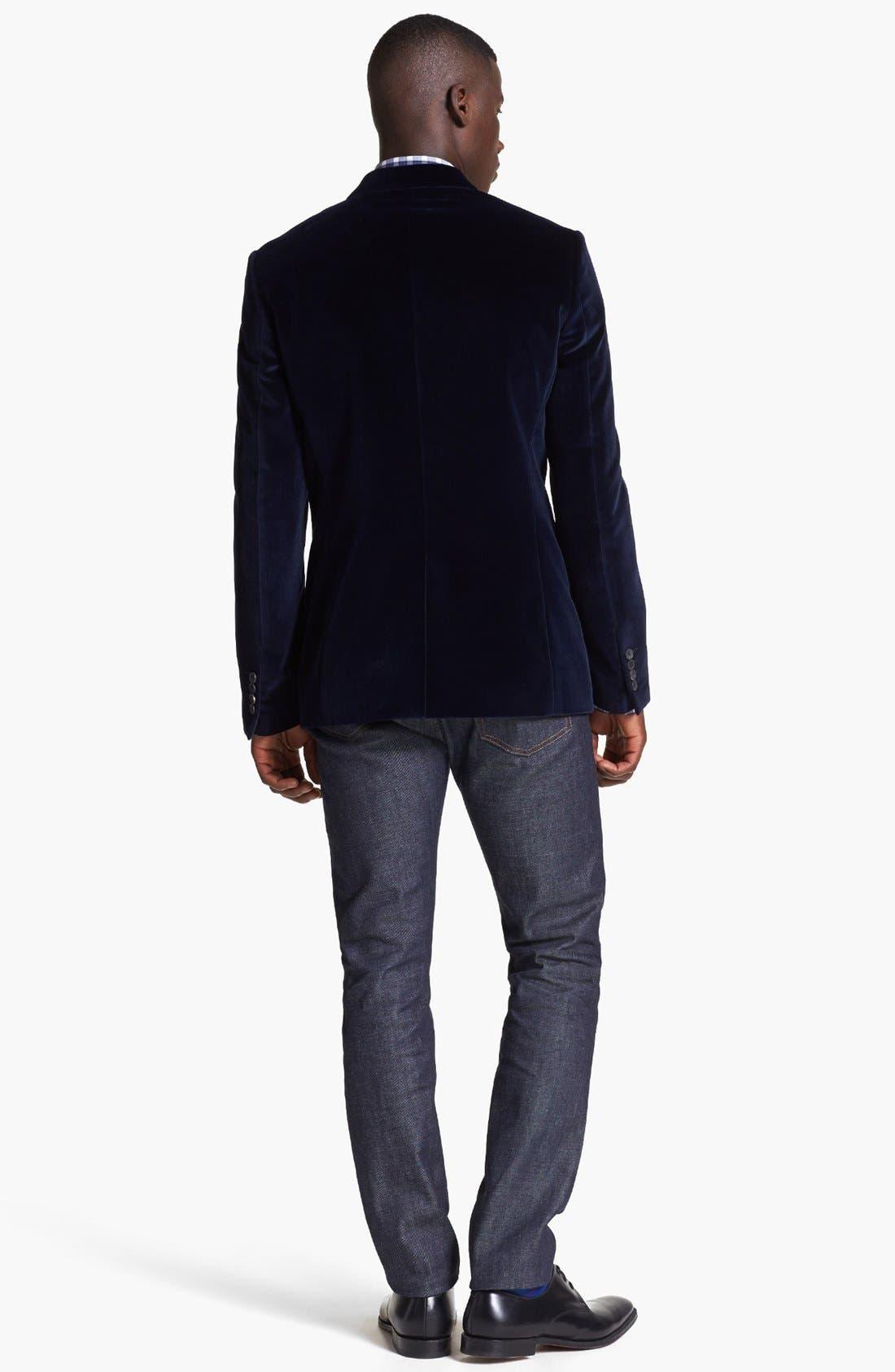 Alternate Image 5  - Paul Smith London Velvet Blazer