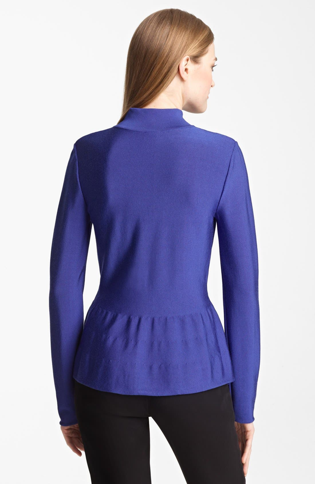 Zip Front Knit Jacket,                             Alternate thumbnail 2, color,                             Cobalt
