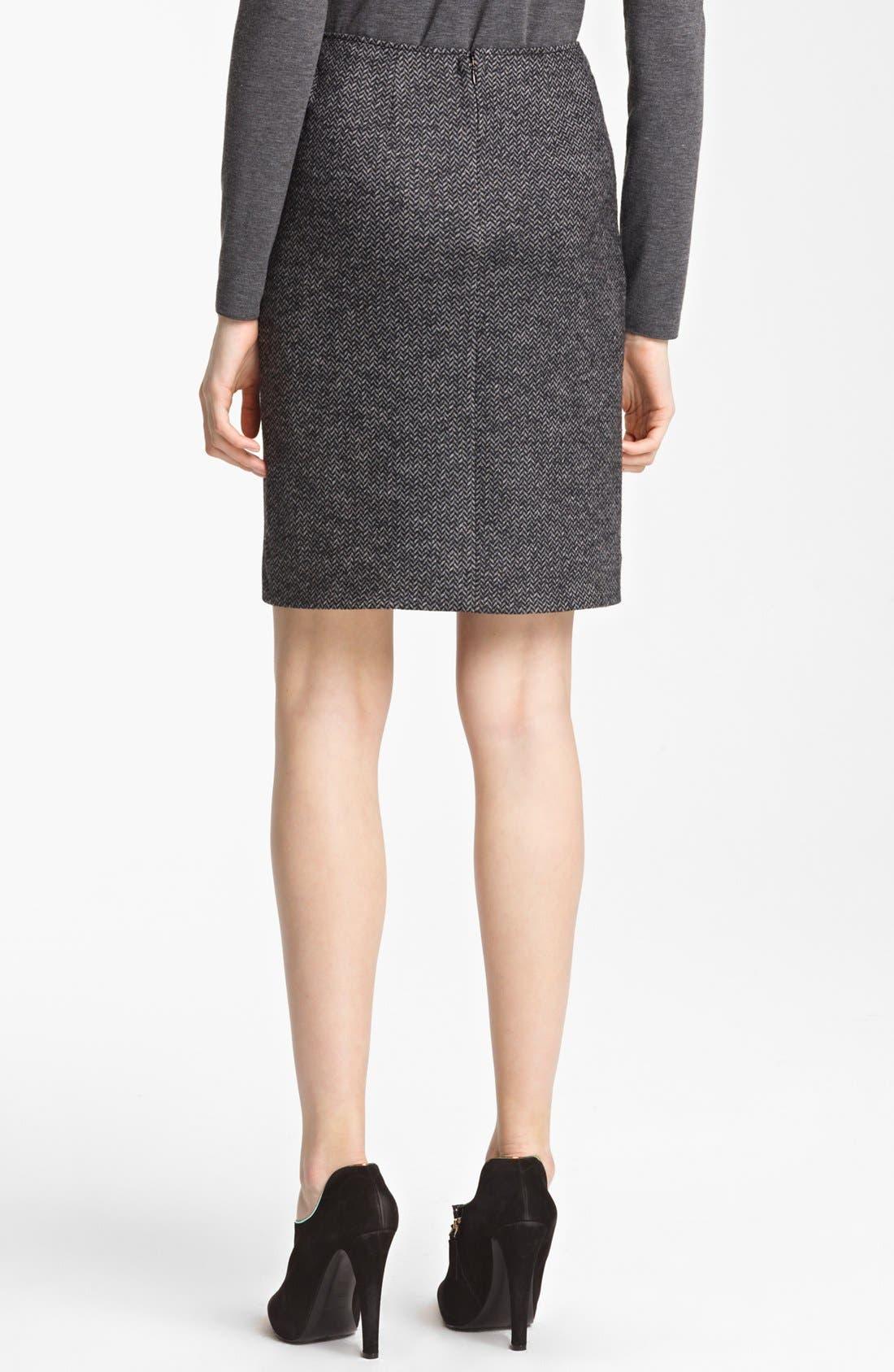 Alternate Image 2  - Armani Collezioni Herringbone Jersey Skirt