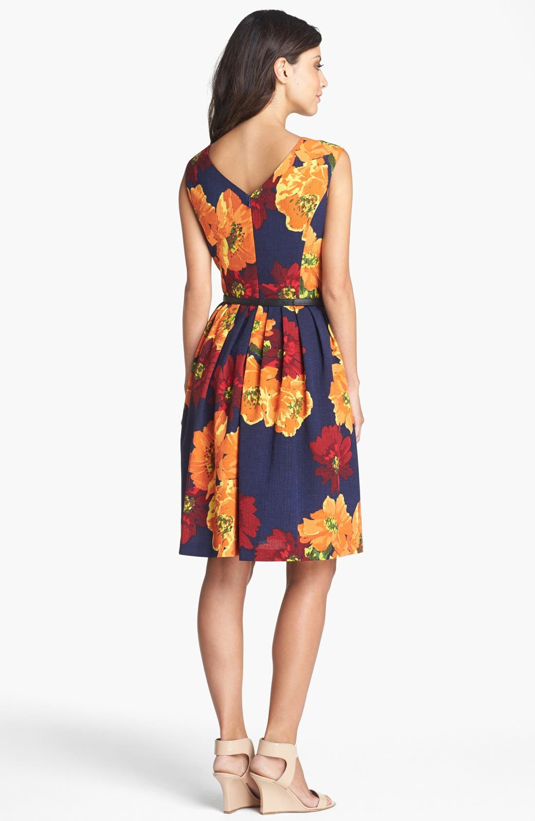 Alternate Image 2  - Ellen Tracy Print Sleeveless Fit & Flare Dress