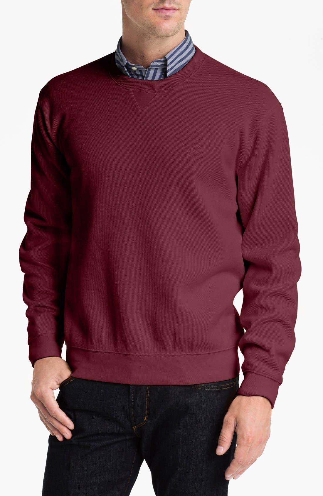 Alternate Image 1 Selected - Façonnable Crewneck Regular Fit Sweatshirt