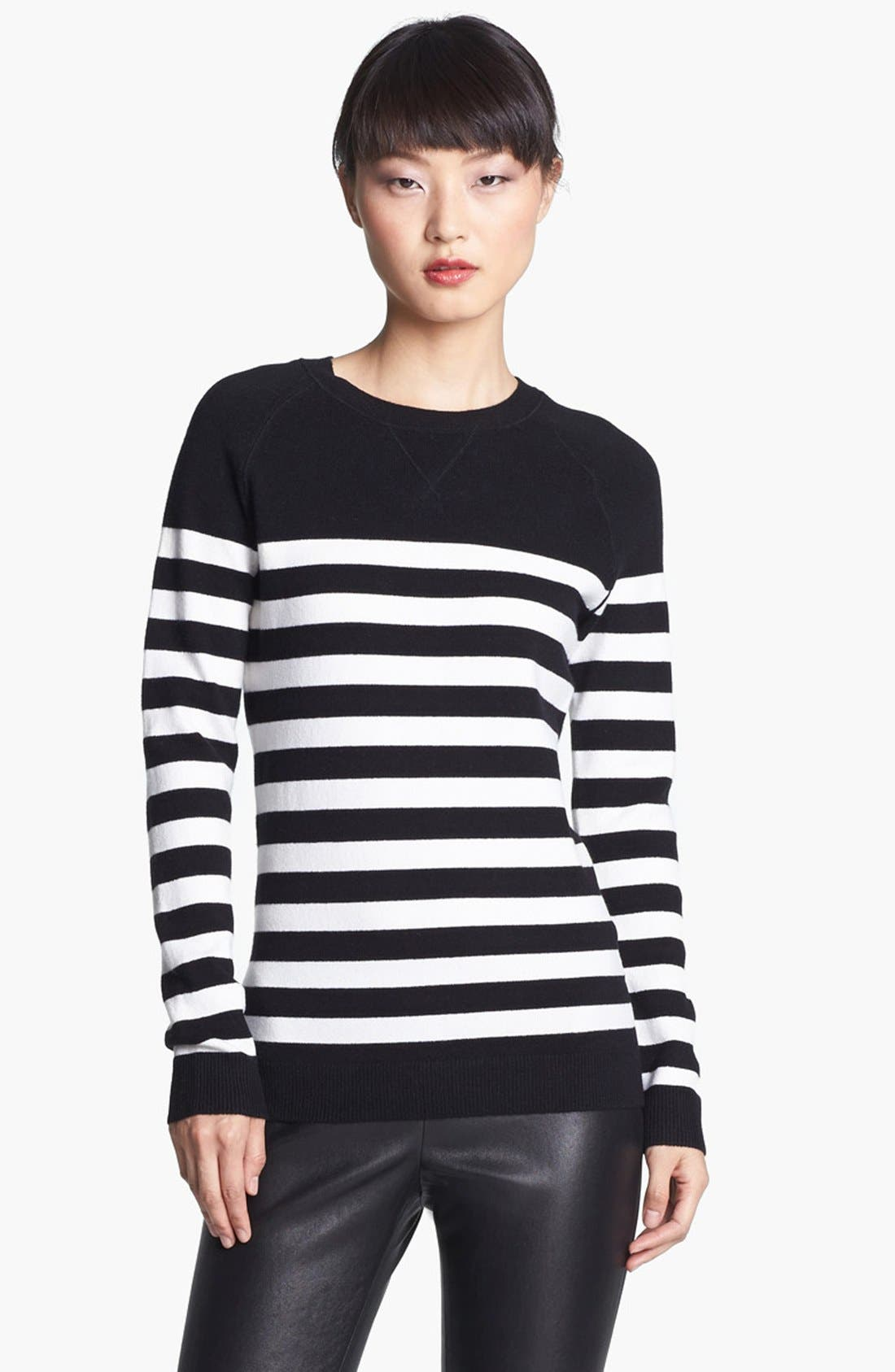 Main Image - Miss Wu 'Zucca' Stripe Cashmere Blend Sweater (Nordstrom Exclusive)